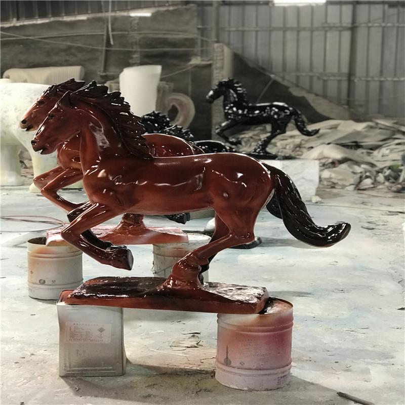梅州玻璃钢动物雕塑 文化广场骏马雕塑956118975