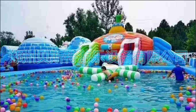 黑龍江佳木斯支架游泳池廠家直銷移動水上樂園65175445