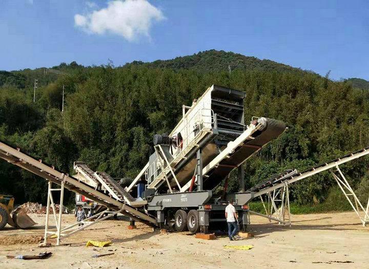 混凝土移动破碎设备石料破碎站 建筑垃圾破碎站 移动破碎799591322