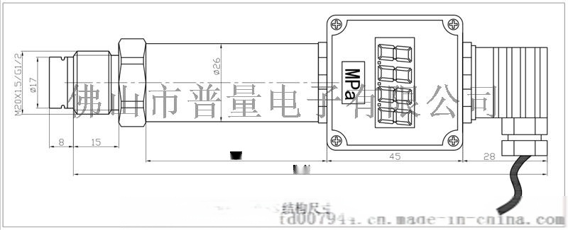 厚膜压力传感器PT500-703隔膜压力传感器58035125