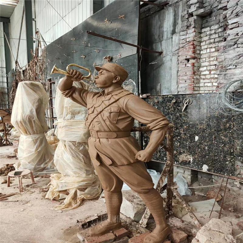 佛山爱国主题雕塑玻璃钢仿铜人物雕塑873961065
