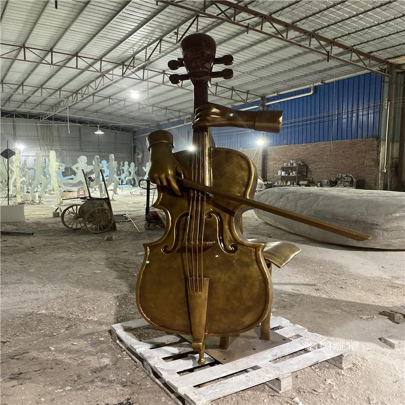 玻璃钢大提琴雕塑音乐会吉他手艺术雕塑造型895250775