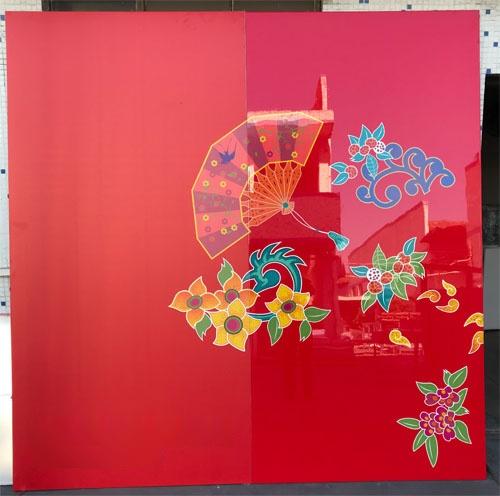 紅色亮光鋁單板 中國紅鋁板定製 .jpg