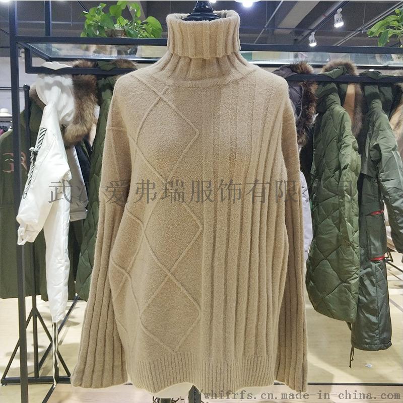 新时尚女装七分米18年冬装羽绒服大衣尾货走份800270175