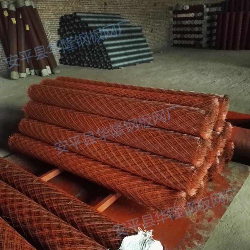 护坡挂网,红漆喷浆钢板网,矿用菱形网738027292