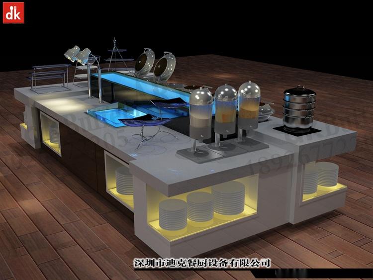 迪克餐廚設計 移動布菲臺專業定製 配套自助餐檯設備92879595