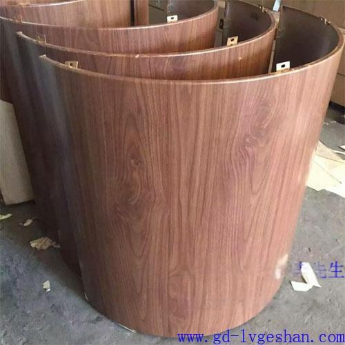 木纹包柱铝单板 造型铝单板 铝单板款式 室内装饰铝单板