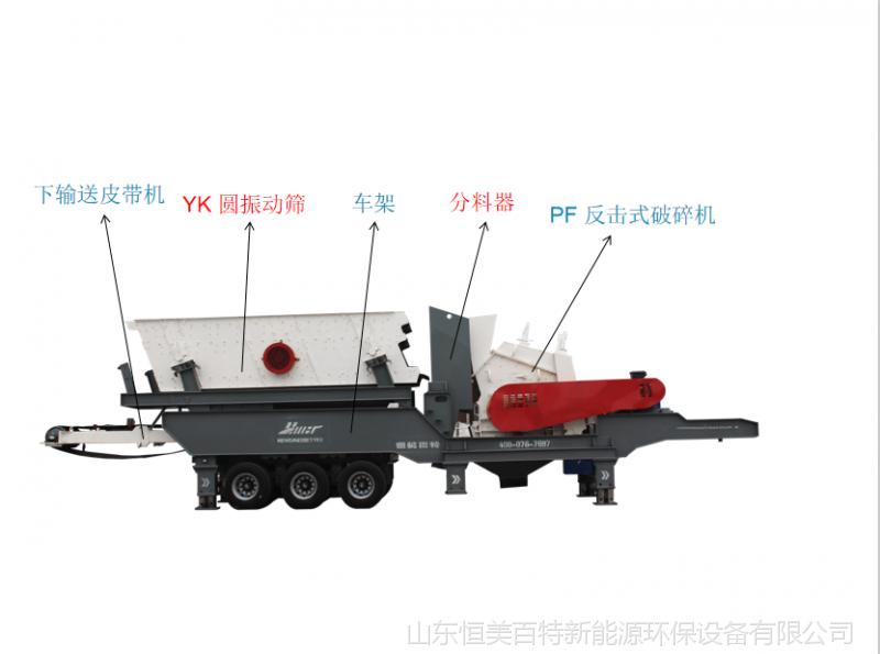 建筑垃圾破碎机移动碎石机 制砂机定做履带式破碎机厂家114158472