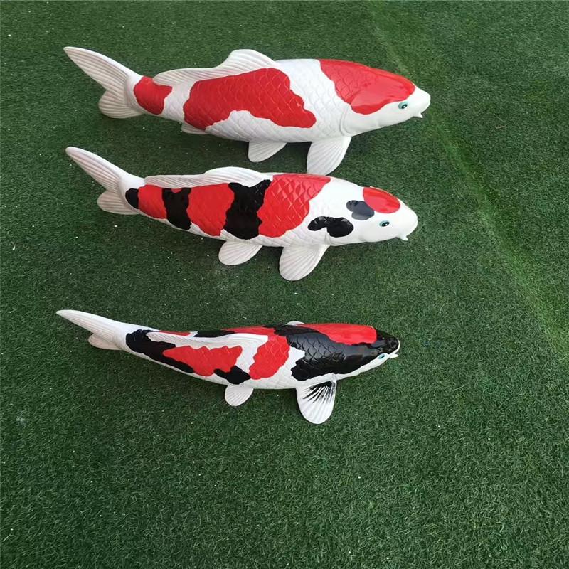 东莞玻璃钢仿真动物雕塑 彩绘小鱼造型雕塑 拍照美陈949808265