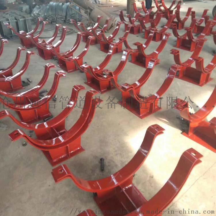 化工标准T型管托  加筋管夹焊接型T型管托905200295