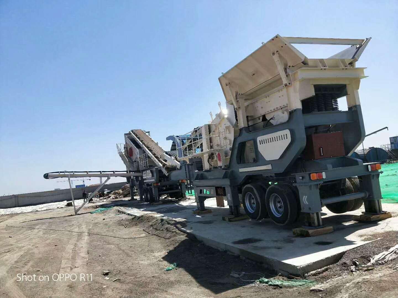 北京建筑垃圾再生利用设备 移动式青石破碎机价格800115782