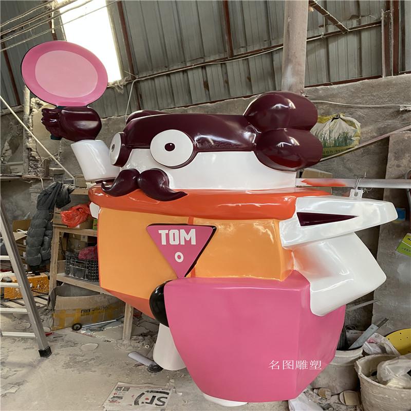 广州机器人主题餐厅雕塑 玻璃钢卡通雕塑造型136427465