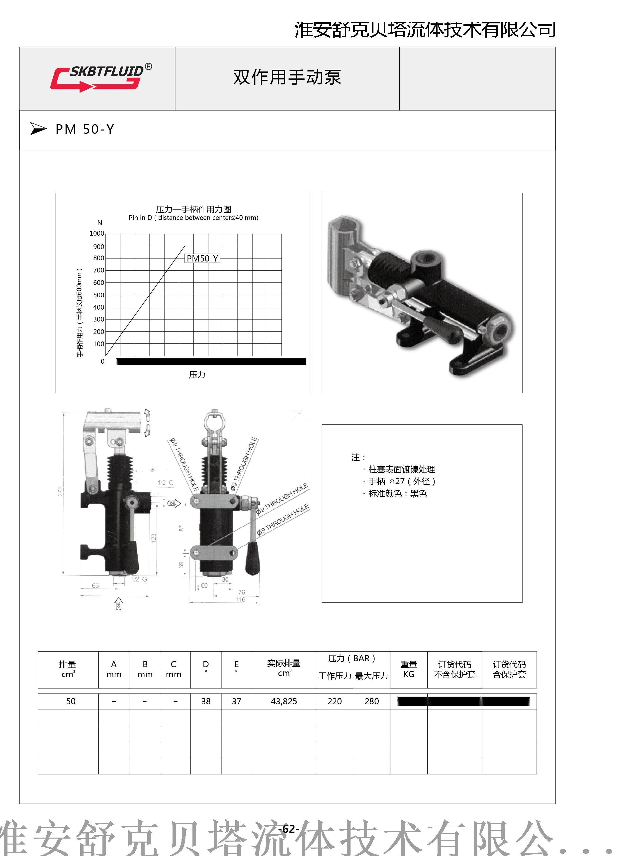 PM25单作用手动泵95338755