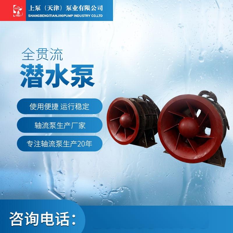 防汛排涝泵站QGWZ全贯流潜水泵现货913825375