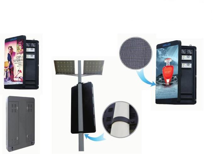深圳泰美P5户外高清智能led灯杆屏无线控制灯杆广告显示屏20986472