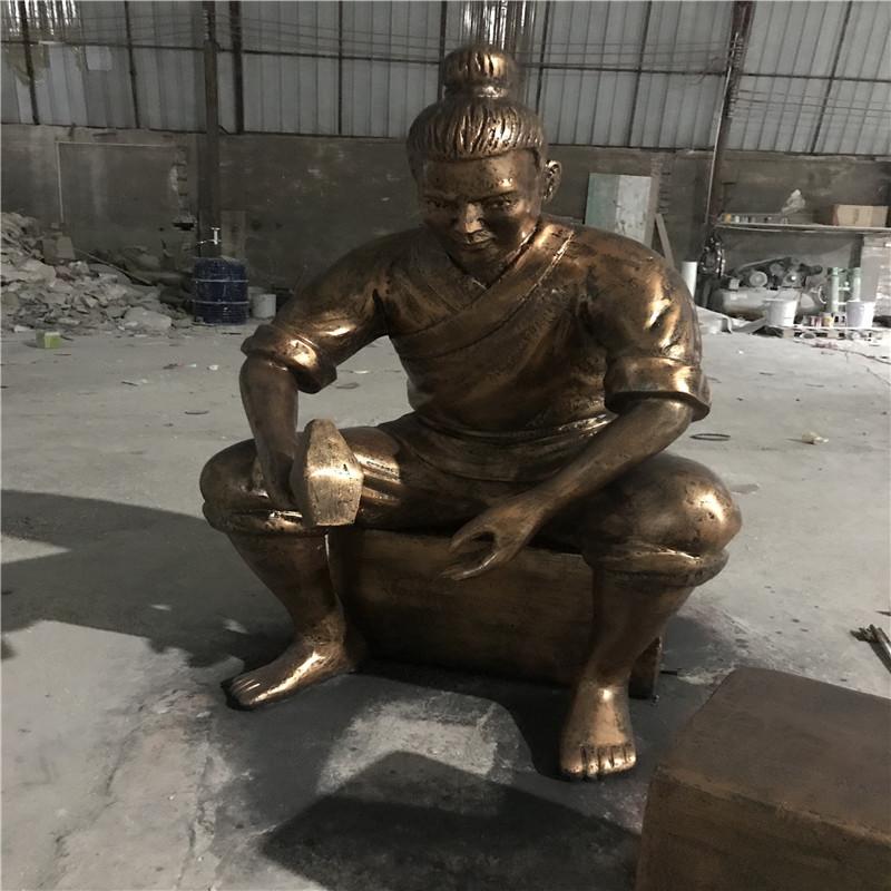 佛山玻璃钢人群雕塑 购物广场玻璃钢仿铜人物雕塑898785235