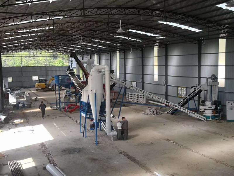 农村用清洁能源设备 棉杆木材颗粒机生产线114850642
