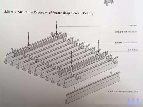 水滴形挂片安装节点图 滴水型铝挂片 铝合金挂片.jpg