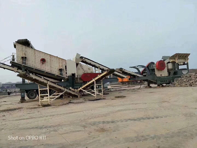 移动破碎车 可以移动破碎的建筑垃圾粉碎站 石料生产可移动破碎机829606892