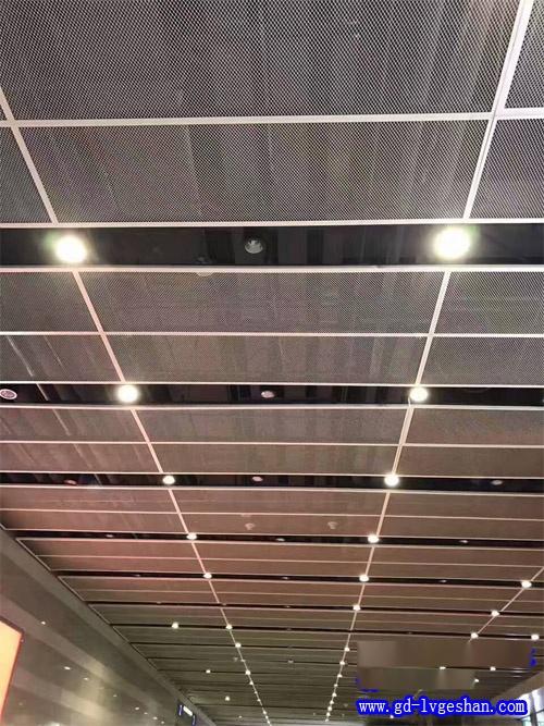 铝板网吊顶 吸音铝网板天花 铝网板吊顶效果图
