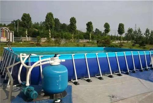 黑龍江佳木斯支架游泳池廠家直銷移動水上樂園776070035