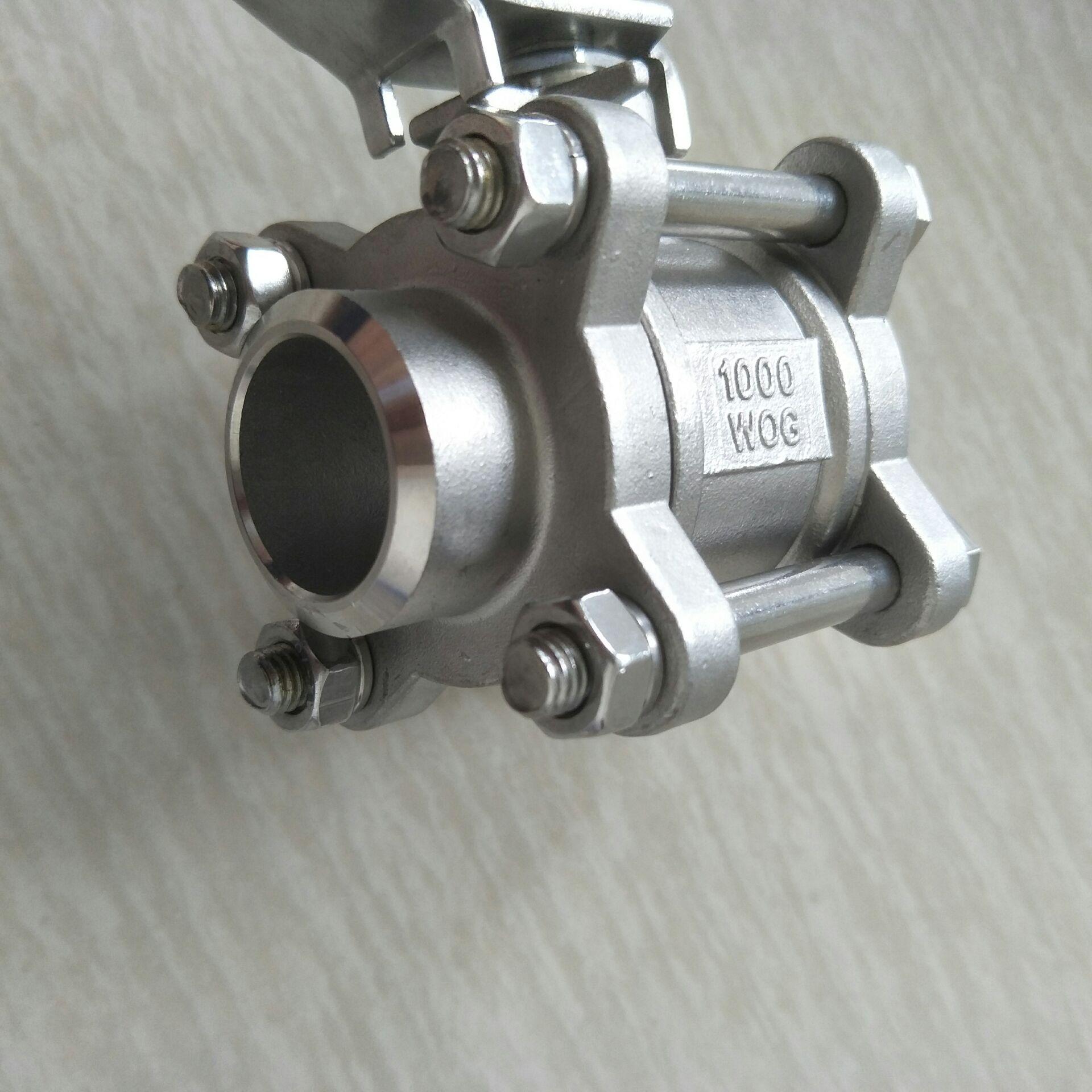 不锈钢焊接三片式球阀 DN25 3PC球阀1寸810953422