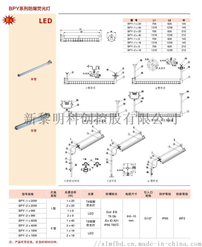 供應車間專用T8LED防爆熒光燈BPY100070365