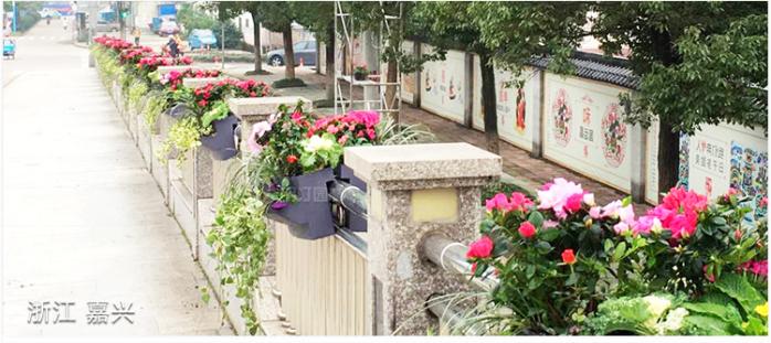 馬鞍式花盆護欄綠化