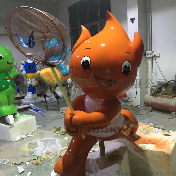 寓意吉祥财源广进玻璃钢卡通福娃造型雕塑吉祥物摆件829065885