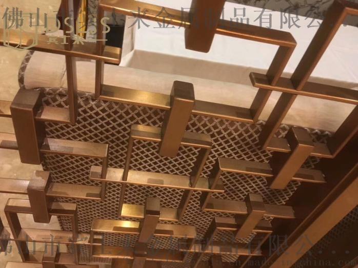 中式不鏽鋼屏風隔斷鏤空酒店大堂不鏽鋼屏風定製廠家104237175