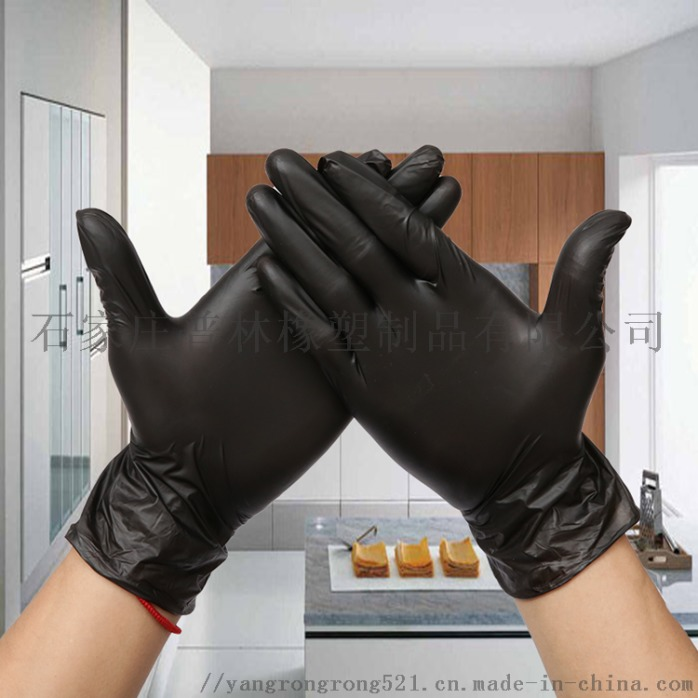 黑色手套,丁腈手套,一次性手套,家用手套825162192