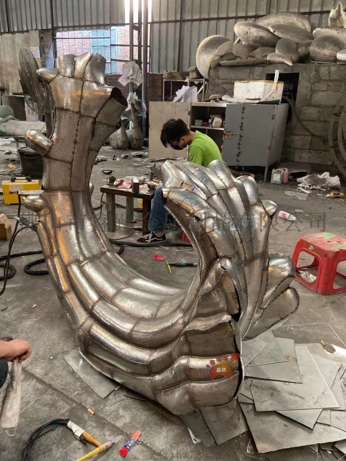 江西鏡面不鏽鋼浪花雕塑、室外雨水沖刷始終煥然一新106049422