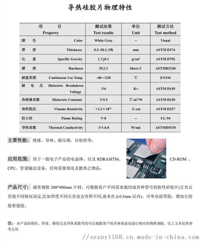 CPU導熱矽膠墊片 絕緣 導熱矽膠片 自粘性散熱84609522