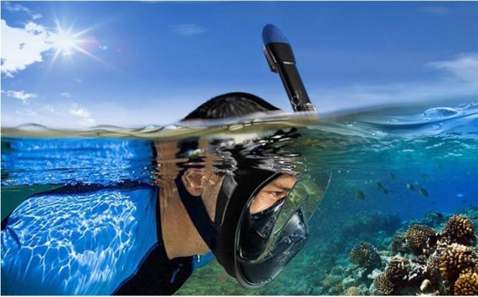 折叠潜水面罩全干式浮潜面罩106585915