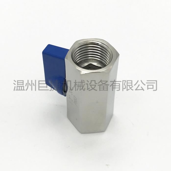 大量现货 不锈钢迷你球阀 六角内丝球阀 卫生级球阀107505075