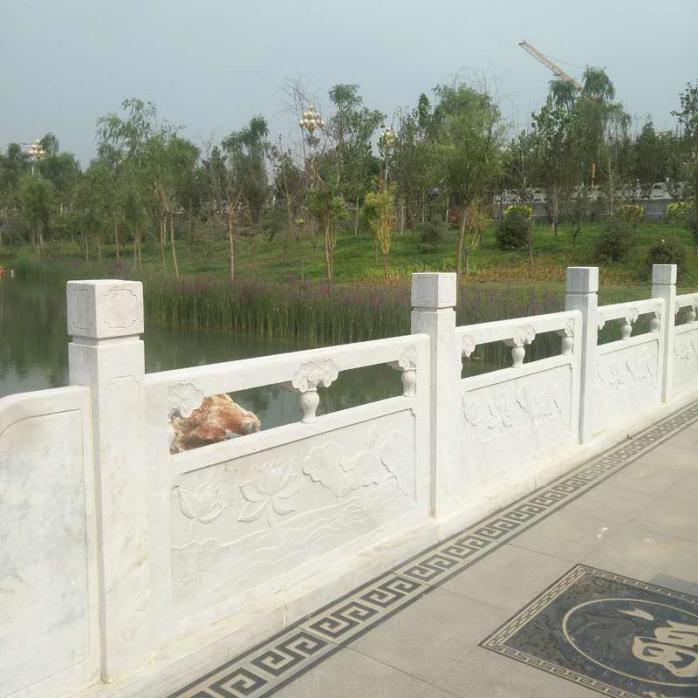 石材雕花栏杆制作厂家-曲阳县聚隆园林雕塑826317822