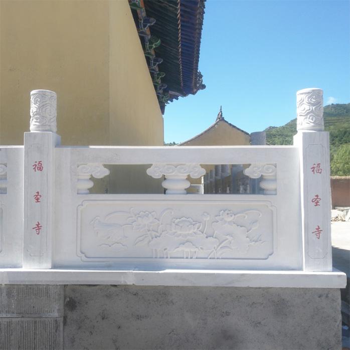 石材雕花栏杆制作厂家-曲阳县聚隆园林雕塑826317892