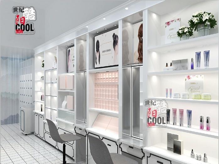 流行美店舖實景和裝修效果圖片 流行美髮飾櫃檯專櫃 流行美飾品展櫃展示櫃貨架定做廠家85687442