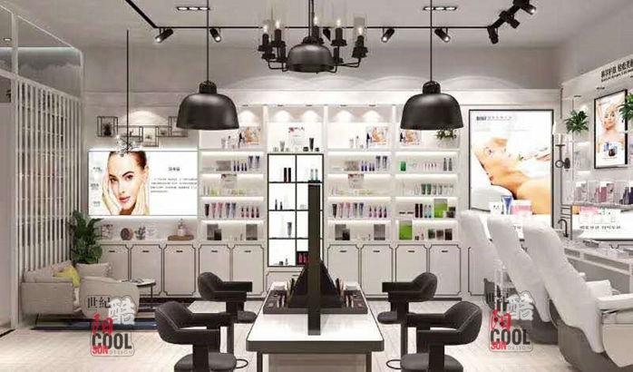 流行美店舖實景和裝修效果圖片 流行美髮飾櫃檯專櫃 流行美飾品展櫃展示櫃貨架定做廠家85687452