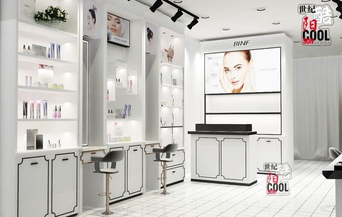 流行美店舖實景和裝修效果圖片 流行美髮飾櫃檯專櫃 流行美飾品展櫃展示櫃貨架定做廠家85687872