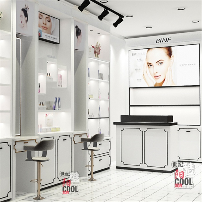 流行美店舖實景和裝修效果圖片 流行美髮飾櫃檯專櫃 流行美飾品展櫃展示櫃貨架定做廠家797118202