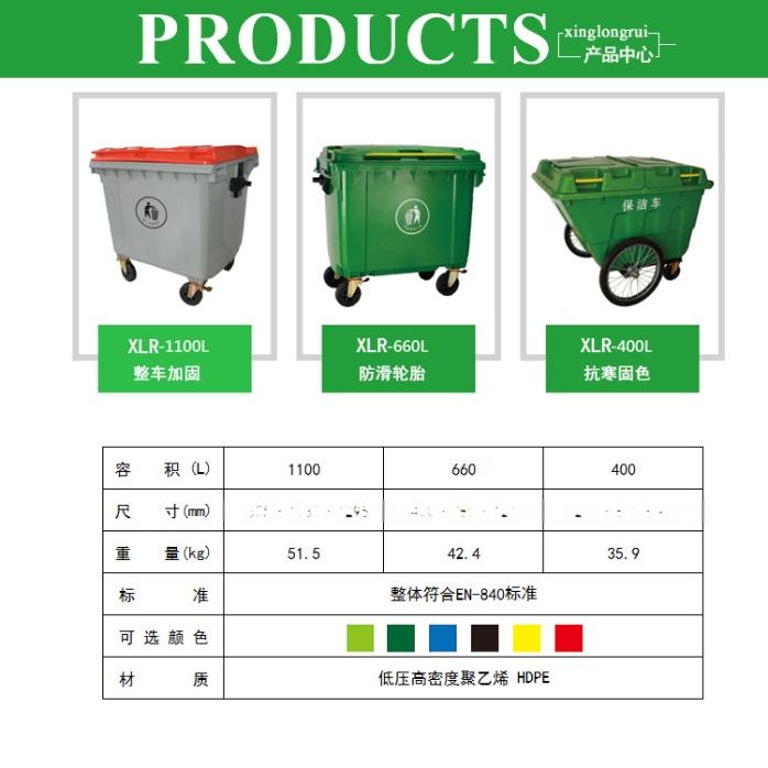 鞍山660升垃圾桶价格-沈阳兴隆瑞