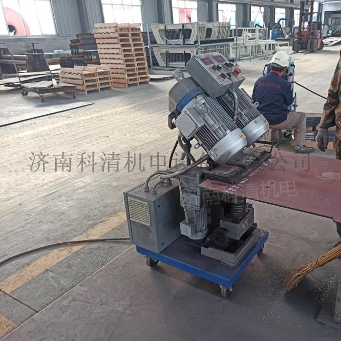 山东济南压力容器厂钢板铣边机自动行走平板铣边机832039852
