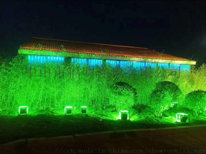 室外防水泛光燈 LED投光燈 彩色投射燈 草坪 庭院照樹燈 柱子聚光燈110417055