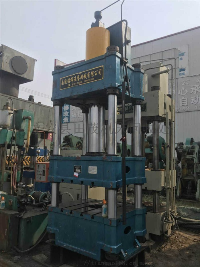 二手200吨大台面板类校正液压机 双缸四柱油压机 压力机价格89329322