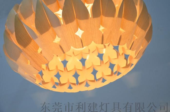 東南亞風格天然木皮蝴蝶吊燈854931735