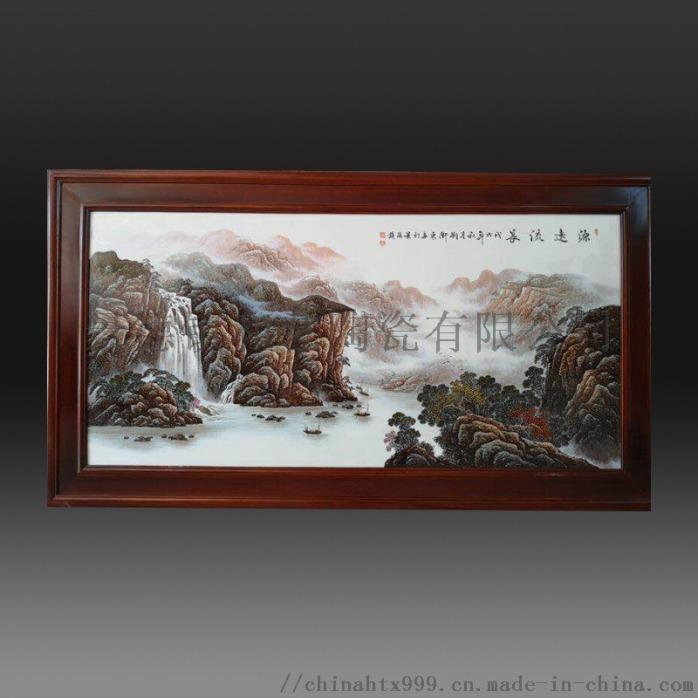 陶瓷手绘墙壁挂画 背景墙装饰瓷板画858449465