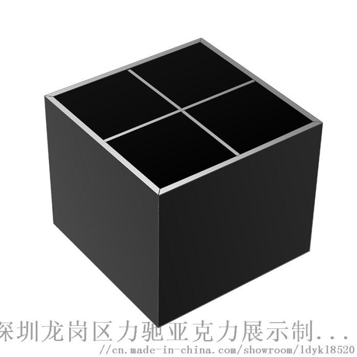 收纳黑色亚克力口红收纳盒 深圳口红收纳盒863690975