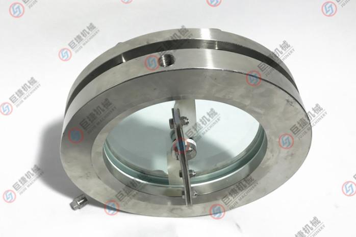 不锈钢带刷带冲洗法兰视镜 带刷法兰视镜 法兰视镜38177015