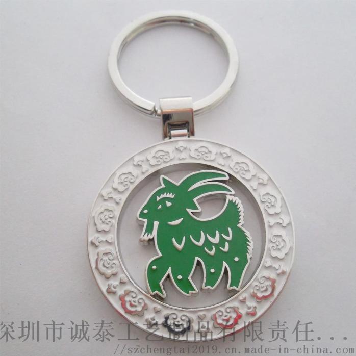 動漫卡通琺琅鑰匙扣, Q版兔子金屬禮品鎖匙扣862891555